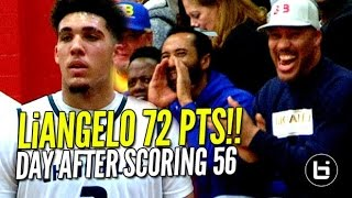 getlinkyoutube.com-LiAngelo Ball Scores 72 POINTS Day AFTER Scoring 56!! FULL Highlights!