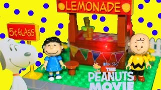 getlinkyoutube.com-The Peanuts Movie NEW 2015 Lite Brix Lego Set Lemonade Stand Rainbow Light Up Colors Toy Review