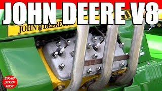 getlinkyoutube.com-2013 Gold Cup Ford Flathead Powered John V8 Deere 200 Drag Racing Lawnmower Tractors