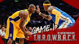 getlinkyoutube.com-Throwback: Kobe Bryant vs Carmelo Anthony Full Duel Highlights 2009 WCF G1 Lakers vs Nuggets - SICK!