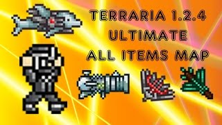 getlinkyoutube.com-Terraria 1.2.4 ULTIMATE ALL ITEMS MAP - (preview) 5K SUBSCRIBERS!!