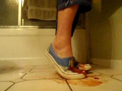 Messy Catsup sneaker shoe play