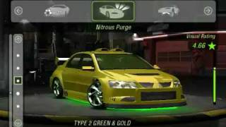 getlinkyoutube.com-NFS Underground 2 Mitsubishi Lancer Evolution 8 tune and drift win