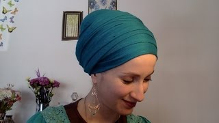 getlinkyoutube.com-Wrapunzel Regal Wrap ~ Beginner's Essential! ~ Tuck, Turban, Tie, Tichel!