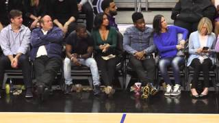 getlinkyoutube.com-Kevin Hart and fiance Eniko seem to be having more fun then Beyonce and Jay at Clippers Game
