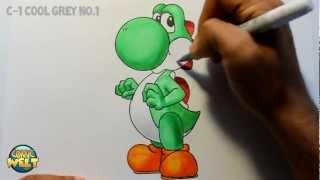 getlinkyoutube.com-Wie zeichnet man Yoshi [Super Mario] Tutorial