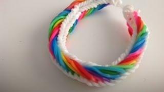 getlinkyoutube.com-Como hacer una pulsera de gomitas modelo ( Seven Link  Fisthail)