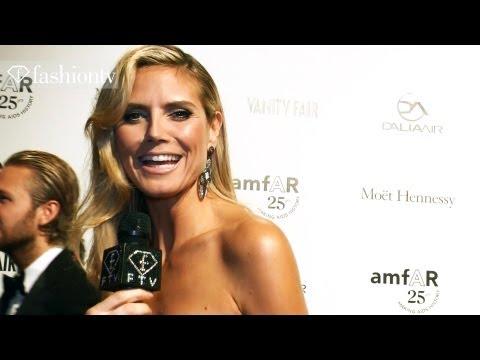 Lindsey Lohan, Heidi Klum & Bar Refaeli at amfAR 25th Anniversary Gala, Milan 2011 | FashionTV - FTV