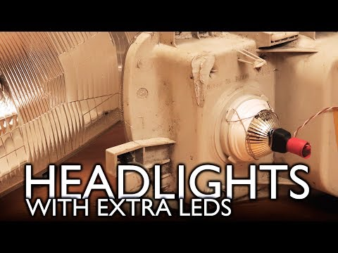 Repairing & installing KITCHEN SPOTLIGHTS into car headlights!