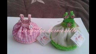 getlinkyoutube.com-DIY como hacer   vestidito rosa recuerdo bautizo