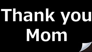 【Involuntarily cry story of Japan】13.Thank you Mom