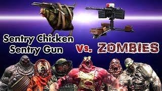 getlinkyoutube.com-Dead Trigger 2 Sentry Chicken & Sentry Gun vs. Zombies HD