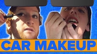 getlinkyoutube.com-Dudes Put On Makeup In The Car
