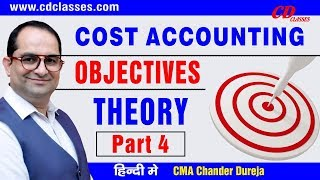 Objective of Cost Accounting II Cost Accounting  theory part 4 II 9717356614 width=