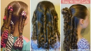 getlinkyoutube.com-No Heat Curls, Bandana Spirals