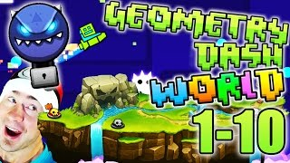 getlinkyoutube.com-Geometry Dash WORLD ALL LEVELS 1-10 / DEMON KEY TREASURE ROOM /  DIAMOND VAULT / EXTRAS