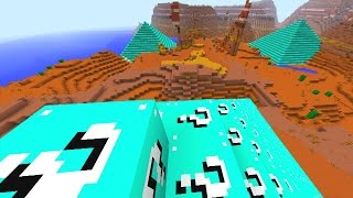 getlinkyoutube.com-Minecraft LUCKY BLOCK PYRAMID DEFENSE #1 with The Pack (Minecraft Lucky Block Mod)