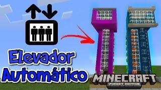 getlinkyoutube.com-Como fazer Elevador Automático Minecraft PE 15.0
