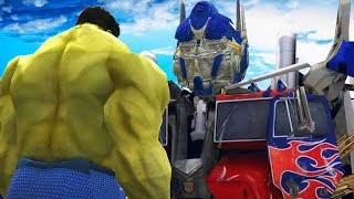 getlinkyoutube.com-THE HULK VS OPTIMUS PRIME (Transformers) - EPIC BATTLE