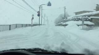 getlinkyoutube.com-5年ぶりの大雪 豊岡市出石町 2017.1.23