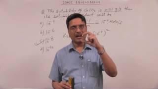 #11 - Ionic Equlibrium: Solubility Product - Equilibrium - Vipin Agarwal NEET & AIIMS Videos
