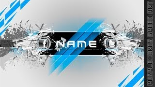 Free-To-Use Channel Art Template - Elegant Shatter