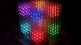 getlinkyoutube.com-10x10x10  LED CUBE RGB (part2) *** The BIG  LED-SHOW ***