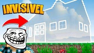 getlinkyoutube.com-Minecraft: CASA INVISÍVEL !! - (Minecraft Troll)
