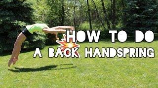 getlinkyoutube.com-How to do a Back Handspring