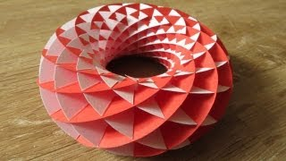 sliceform - papercraft - torus - tutorial - dutchpapergirl