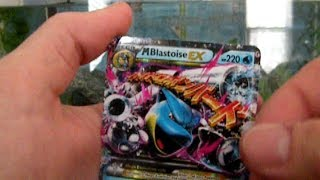 pokemon unwrapped xy boosters. part 1. mega blastoise ex 1st pull!!!