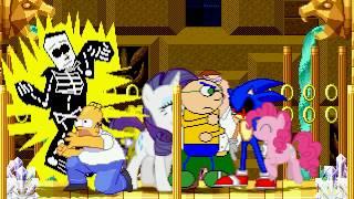 AN Mugen Request #853: Homer, DeeBeeKaw, Josh Geary, Peter VS Sonic.exe, Pinkamen, Rarity, Spongebob