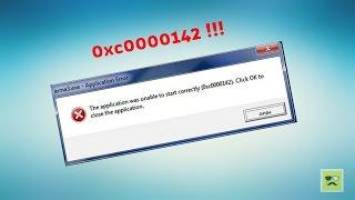 getlinkyoutube.com-The application was unable to start correctly 0xc0000142