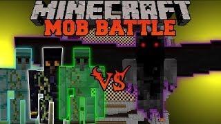 getlinkyoutube.com-Demon Angel Vs. Obisidian Golem, Diamond Golem and Emerald Golem - Minecraft Mob Battles