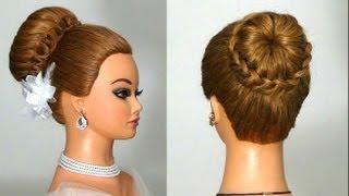 getlinkyoutube.com-Прическа на средние и длинные волосы. Hairstyle for long hair