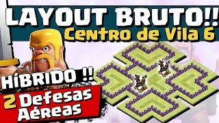 getlinkyoutube.com-LAYOUT BRUTO HIBRIDO CV 6 - 2 DEFESAS AÉREAS - CV6 - Clash of Clans