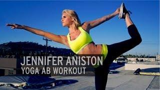 getlinkyoutube.com-Jennifer Aniston Yoga Ab Workout