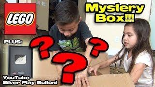 getlinkyoutube.com-LEGO MYSTERY BOX Opening + YouTube SILVER PLAY BUTTON Partner Reward! 100,000 Subscribers