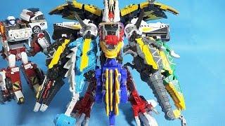 getlinkyoutube.com-파워레인저 다이노포스 티라노킹 프레즈킹 또봇 쿼트란 프테라킹 합체 장난감 Power Rangers Dino Charge Kyoryuger