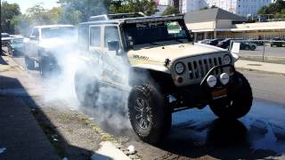 getlinkyoutube.com-Jeep 4wd Burnout - RIPP Supercharged 2012 Wrangler Blazes Tires