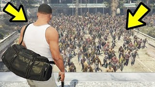 GTA 5 - The BIGGEST Zombie Hoard EVER!! (Zombie Apocalypse)