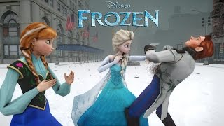 getlinkyoutube.com-ANNA, ELSA vs HANS (FROZEN) - EPIC BATTLE - FROZEN SHORT MOVIE