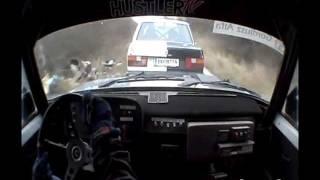 getlinkyoutube.com-Szabó Laci - Lada VFTS - 15. Mikulás Rallye 2011 - Az utolért Volvo...