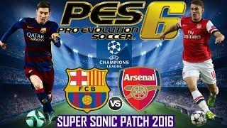 ARSENAL FC VS FC BARCELONA - UEFA CHAMPIONS LEAGUE 2016 - SUPER SONIC PATCH