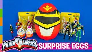 Power Rangers Toys ft Play Doh Power Rangers Giant Surprise Egg & Kinder Joy Surprise Eggs by ToyRap
