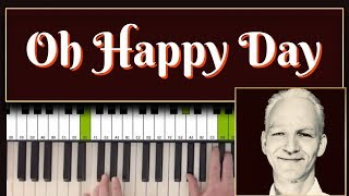 How to play OH HAPPY DAY, gospel piano tutorial. Intermediate to advanced