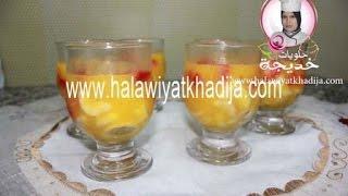 ديسير بالفواكه سهل وسريع جدا  dessert fraise et banane facile