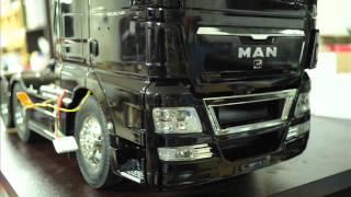 getlinkyoutube.com-tamiya 1/14 MAN 26.540 6x4 XLX & 40-Foot Container