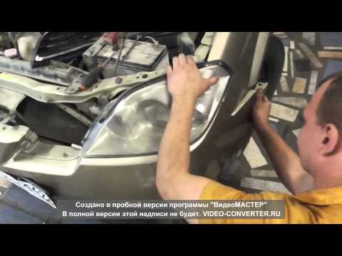 Как снять фару Nissan Primera p12
