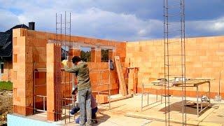 getlinkyoutube.com-Budowa domu, ściany, Full HD, Film 11 Murowanie porotherm dryfix 3